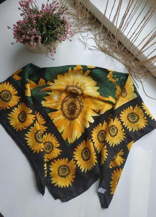 Шёлковый платок в подсолнухи manolo borromeo
