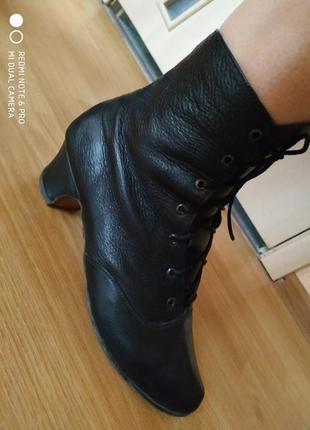 Замечательные ботиночки для танцев из натуральной кожи