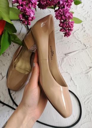 🔥🔥🔥распродажа🔥🔥🔥лаковые туфли на устойчивом каблуке m&s 363 фото