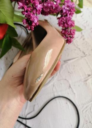 🔥🔥🔥распродажа🔥🔥🔥лаковые туфли на устойчивом каблуке m&s 365 фото