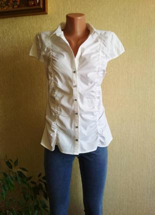 Брендовая базовая рубашка блуза,р.44