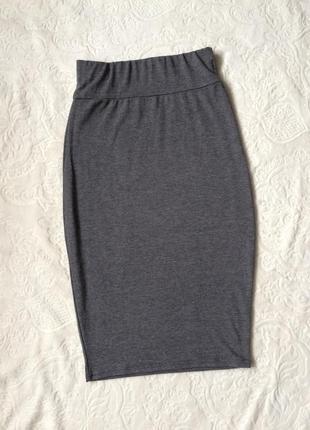 Трикотажная юбка boohoo s1 фото