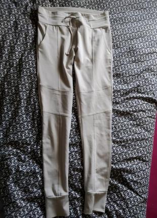 Штаны брюки бежевые с манжетами
