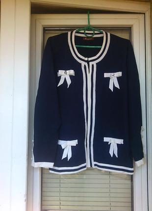 Шикарная кофтюля/джемпер, свитерок,полувер/в стиле шанель 48-52