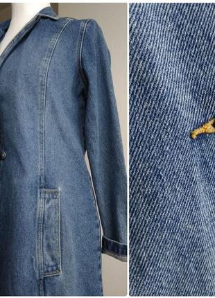 Джинсовый плащ котон 100% джинсовка котоновый тренч isolina's jeans  бойфренд джинсовка