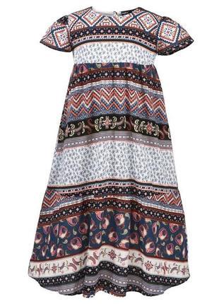 Платье, детское, летнее, орнамент, размер 92, 98, 110