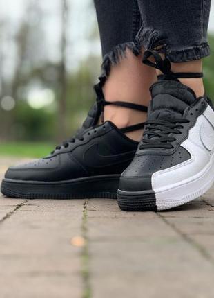 Шикарные кроссовки nike air force 1 low black/white