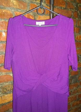 Платье с драпировкой marks & spencer трендового оттенка ультрафиолет2 фото
