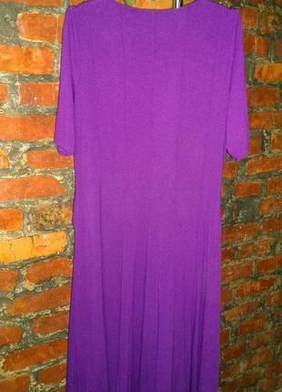 Платье с драпировкой marks & spencer трендового оттенка ультрафиолет3 фото