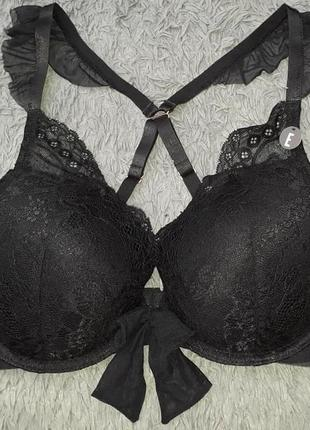 Черный сексуальный кружевной бюстгальтер secret possessions 75e  34dd 90e