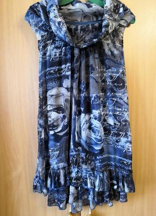 Стильная, лёгкая блуза-туника made in italy