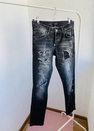 7ae1dfc8a9e Черные рваные джинсы женские 2019 - купить недорого вещи в интернет ...