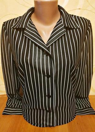 Блузочка в полоску, приталенная