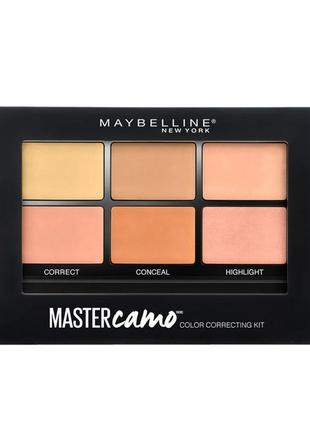 Палетка корректоров, консиллер, хайлайтер maybelline facestudio master3 фото