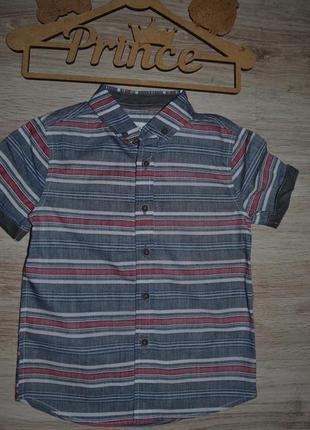 Рубашка шведка тениска f&f 3-4г