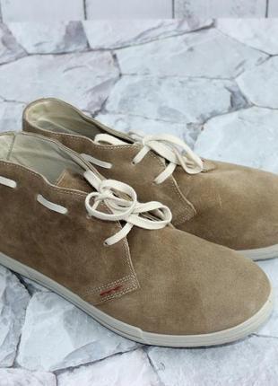 Замшевые удобные полуботинки кеды на шнуровке