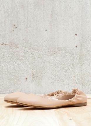 Светлые бежевые балетки bershka