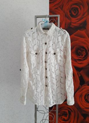 Ажурная рубашка блуза бренд south
