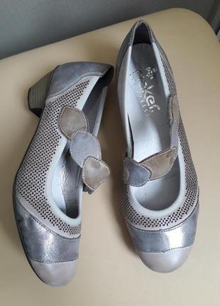 39 p. rieker antistress кожаные симпатичные туфли