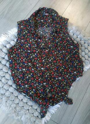 Рубашка-жилетка майка топ divided by h&m