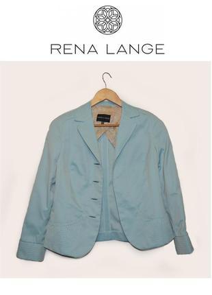 Rena lange womens blazer базовый повседневный пиджак синего бежевого цвета с рукавами 3/4