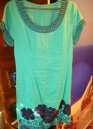 Продаю новое льняное платье