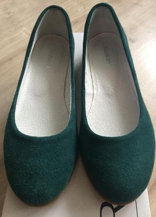 Замшевые туфли балетки зеленого цвета tm romani р. 36