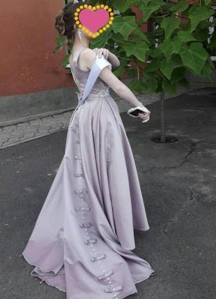 Вечернее\выпускное атласное платье от terani couture