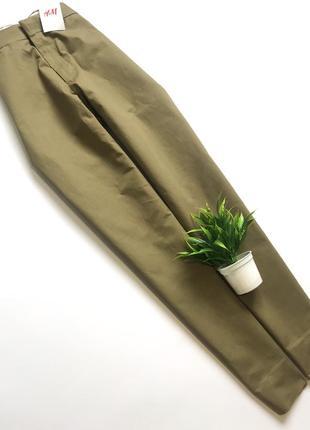 Повседневные строгие брюки/штаны хаки h&m! размер xxl!