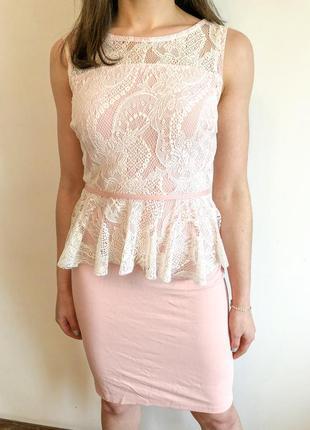 Платье с баской bonprix