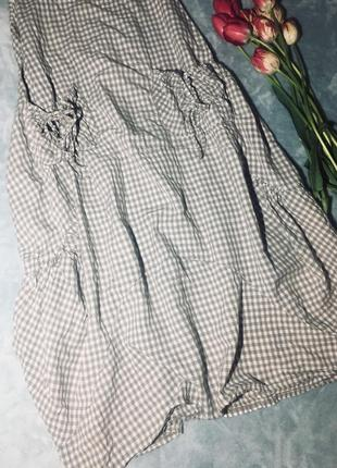 Платье для беременных, обьёмное платье  с карманами в клетку италия2 фото