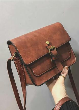 Новая качественная коричневая сумка