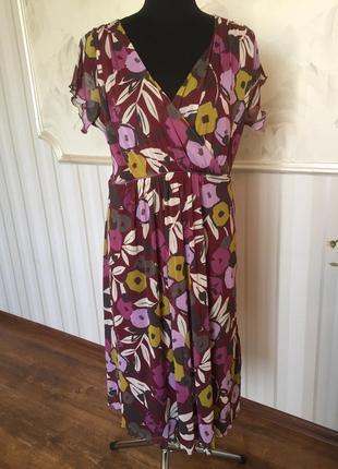 Трикотажное платье на подкладке большого размера, 52-54-56.