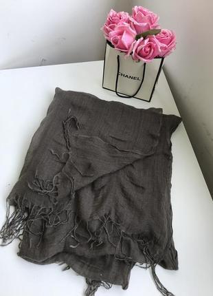 Натуральный палантин шарф цвета тауп