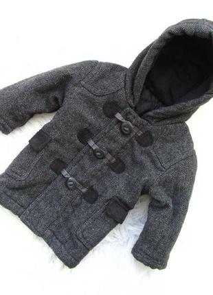 Стильная демисезонная пальто куртка с капюшоном george