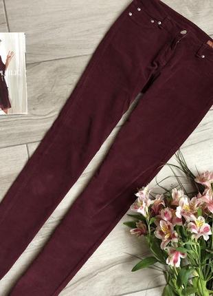 Вельветовые бордовые брюки марсала silvian heach