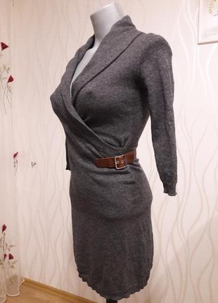 Необычно красивое, женственное и практичное платье серого цвета. massimo dutti