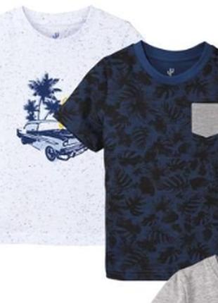Набір футболок для хлопчика lupilu. 100% котон.