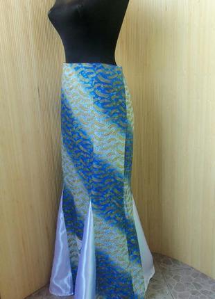 Женственная длинная юбка колокол из тонкого хлопка s-m в этно стиле бо-хо