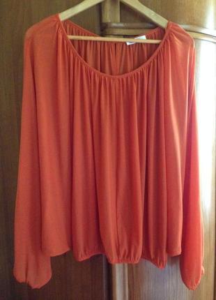 Нарядная блуза в апельсиновом тоне, artistic 56-58 р.