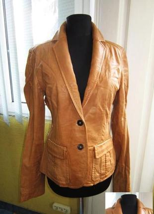 a326b2e8075 Стильная женская кожаная куртка- пиджак rene lezard. франция. лот 470