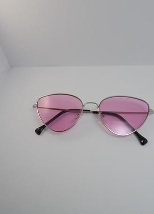Стильные розовые очки ретро солнцезащитные хит сезона, бестселлер