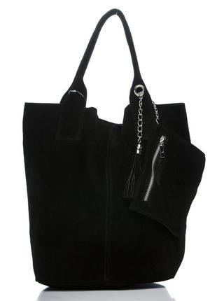 Замшевая черная сумка arianna италия цвета в ассортименте