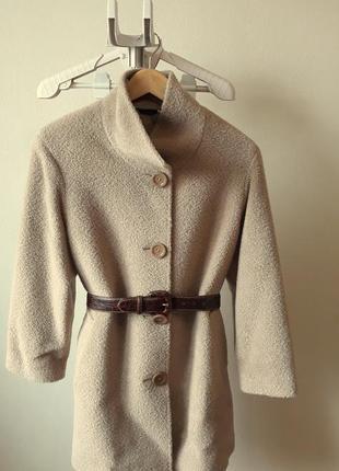 Пальто из шерсти альпаки от итальянского бренда ginzia rocca1 фото