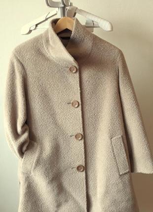 Пальто из шерсти альпаки от итальянского бренда ginzia rocca3 фото