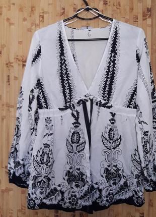 Коттоновая блуза  батистовая рубашка накидка