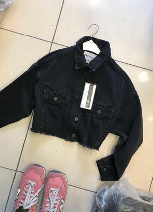 Укорочена джинсова рубашка (вітровка)