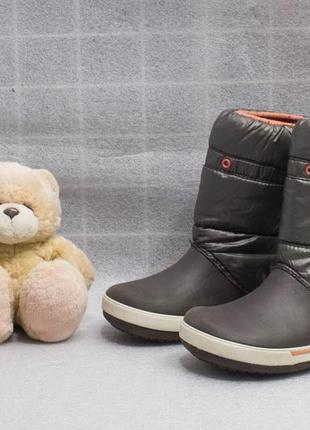 Цена без торга  ботинки на девочку  crocs размер j1 стелька 20 см 32 размер