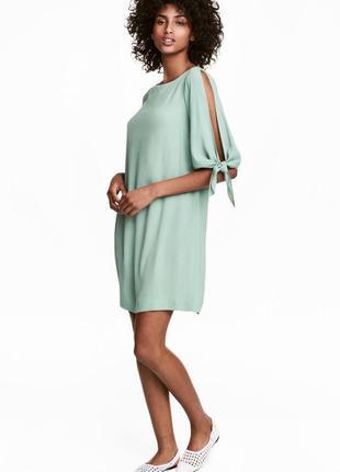 H&m стильное платье р. 38 из натуральной ткани