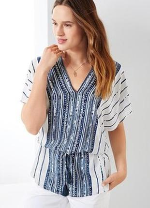 Нежная вискозная туника- блуза тсм чибо на 40 евро